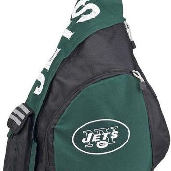 New York Jets Northwest Leadoff Sling Bag Backpack Adult Travel Football Green