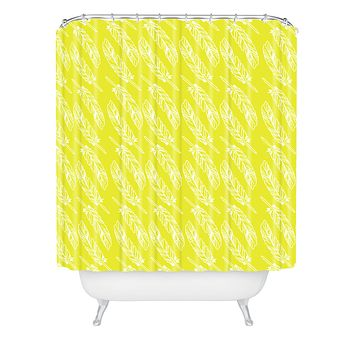 Allyson Johnson Neon Feathers Shower Curtain