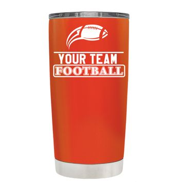 TREK Personalized Football Team on Vermilion 20 oz Tumbler Cup