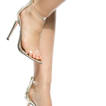 Gold Faux Leather Clear Multi Strap Heels @ Cicihot Heel Shoes online store sales:Stiletto Heel Shoes,High Heel Pumps,Womens High Heel Shoes,Prom Shoes,Summer Shoes,Spring Shoes,Spool Heel,Womens Dress Shoes