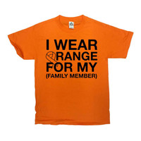 Multiple Sclerosis T Shirt MS TShirt Support Gifts Awareness Shirt Orange Ribbon Custom Personalized I Wear Orange Mens Ladies Tee - SA759