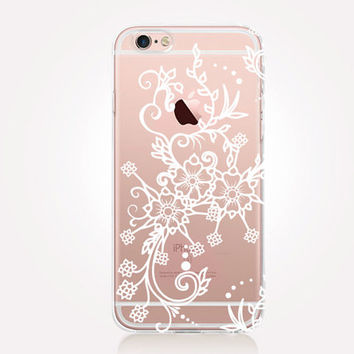 Transparent Henna Phone Case- Transparent Case - Clear Case - Transparent iPhone 6 - Transparent iPhone 5 - Transparent iPhone 4