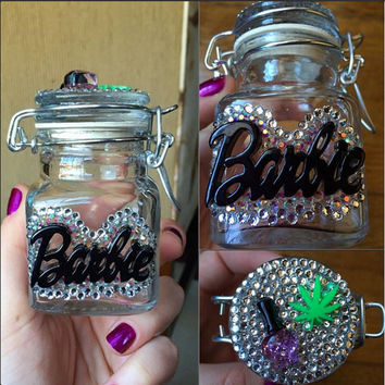 STASH JAR -- Look Like Barbie, Smoke Like Marley