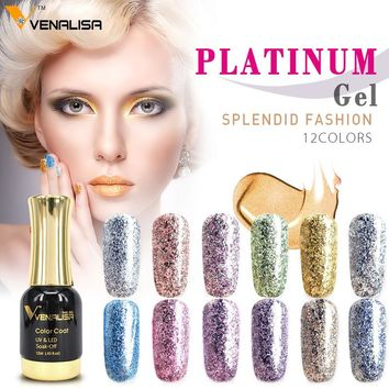 #60752 venalisa 12 colors nail art diy soak off gel uv led 12ml nail enamel UV nail gel polish lacquer gel varnish