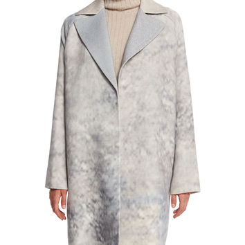 Wallace Oversize Mid-Length Coat, Raffia Multi, Size: