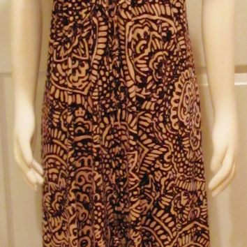 Brown Dress Maxi Dress Ethnic Dress Afrocentric Dress Boho Chic Dress Bohemian Dress Vintage Dress Size 4 Dress Womens Dress Earthy Clothing