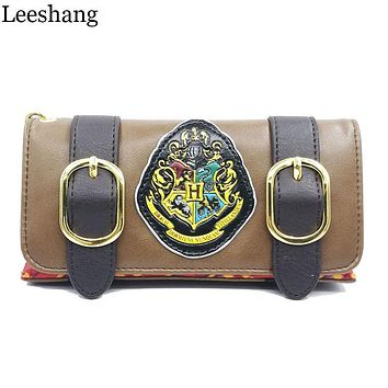 Leeshang Fashion Wristband Clutch Wallets Harry Potter Hogwarts Castle Crest Envelope Satchel Fold Wallet Purse with Tag