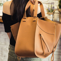 Casual Magnetic Closure and Zippers Design Tote Bag For Women