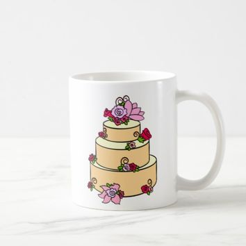 Elegant Wedding Cake Mug