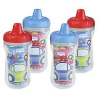 The First Years 4pk Insulated Sippy Cup - Cars