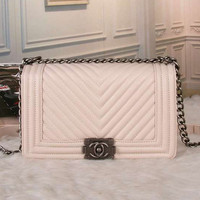CHANEL Women Fashion Shopping Leather Chain Satchel Shoulder Bag Handbag
