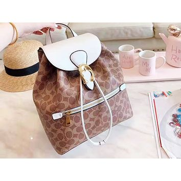 Coach hot seller of women's casual shopping bag with fashionable printing and color stitching backpacks #3