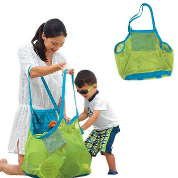 Applied Enduring Kids Sand Away Beach Mesh Bag Children Beach Toy Clothes Towel Storage Bag Toy Collection Nappy Storage nxha054