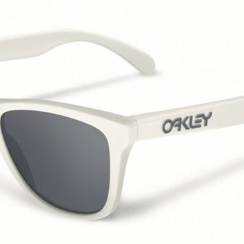 Oakley Sunglasses - Frogskins - Matte Cloud Black Iridium Polarized OO9013-13