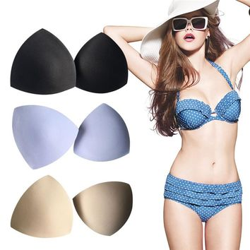 1 Pair Women Bikini Padded Swimsuit Swimwear Swimming Bathing Suit Sport Bra Pad Insert Sponge Chest Pad Breast Shaper Cover