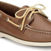 Sperry Top-Sider Authentic Original 2-Eye Boat Shoe Tan, Size 9W  Men's Shoes