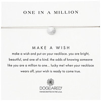 Dogeared Sterling Silver Make A Wish One In A Million Sand Dollar Taupe Necklace, 16""