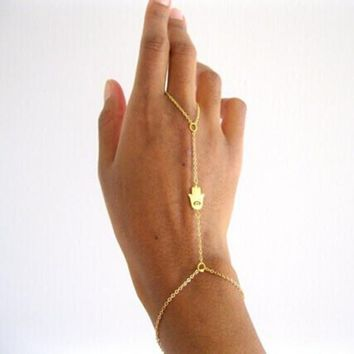 CLEARANCE - Delicate Hand of Fatima Hamsa Body Jewelry Bracelet