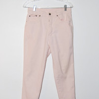 Vintage Early 90's Light Pink High Waisted Straight Leg Denim Mom Jeans