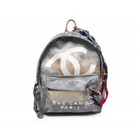 Chanel Grey Graffiti Backpack