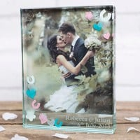 Spaceform Personalised Confetti Photo Frame | GettingPersonal.co.uk