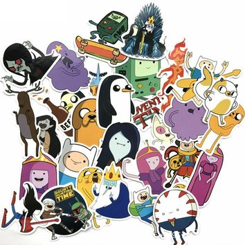 29 Pieces/Lot American Drama Adventure Time Funny Anime Sticker Decal For Car Laptop Bicycle Notebook Waterproof Stickers