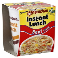 Maruchan® Instant Lunch™ Beef Flavor Ramen Noodles 2.25 oz (6, 12 or 18 ct)
