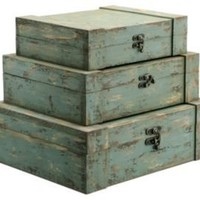 One Kings Lane - Accents We Love - Barreveld S/3 Wood Boxes