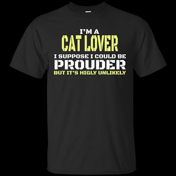 Custom Tee Proud Cat Lover