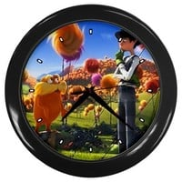 Dr.seuss'the Lorax Movie Wall Clocks 10 Inch Kitchen Modern Unique Round Black Decorations High Qual