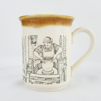 Vintage Pottery Mug Biltons England Rustic Potter's Coffee Cup A Look Back on Pottery Making of the Past Tea Mug