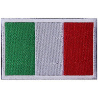 Italy Flag Embroidered Patch Velcro For Sport Outdoor Army Baseball Hats