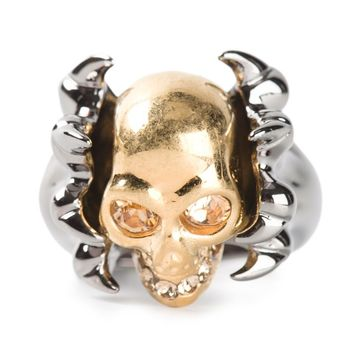 Alexander McQueen claw skull cocktail ring