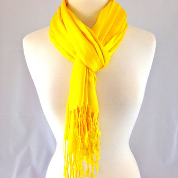 Sunflower Yellow Pashmina