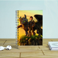 How To Train Your Dragon Hiccup And Night Fury Photo Notebook Auroid