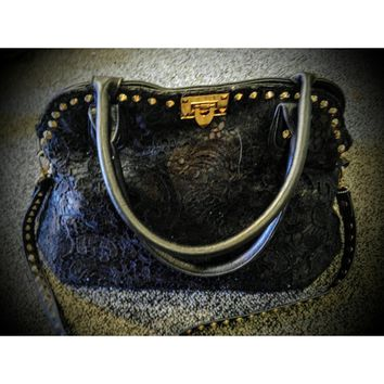 Charming Charlie handbag - lace on front #