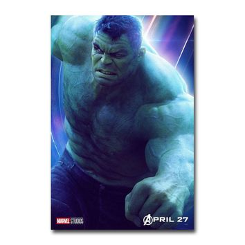 Avengers Infinity War Superheroes Movie Silk Poster Wall Art Prints 12x18 24x36 inch Decoration Picture for Living Room Hulk