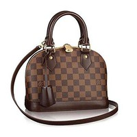 LV women Damier Alma BB Cross Body Handbag Article: N41221 Made in France