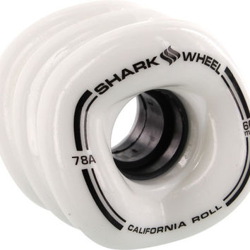 Shark California Roll 60mm 78a White Longboard Wheels