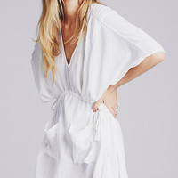 White Oversize Tunic Beach Kaftan Dress