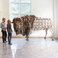 American Bison sculpture life sized original fine art