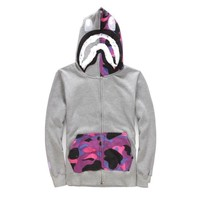 Plus Size Camouflage Hoodies Couple Casual Jacket [10207416007]