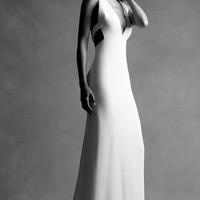 M'O Exclusive: Deep V Open Back Gown | Moda Operandi
