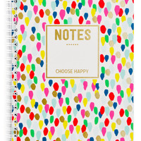 Confetti Drops Spiral Notebook