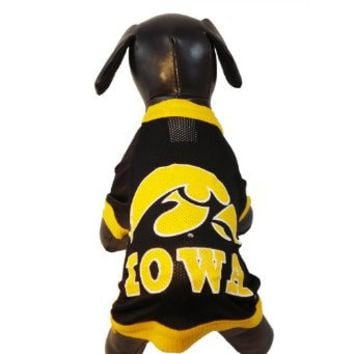 NCAA Iowa Hawkeyes Athletic Mesh Dog Jersey (Team Color, Medium)