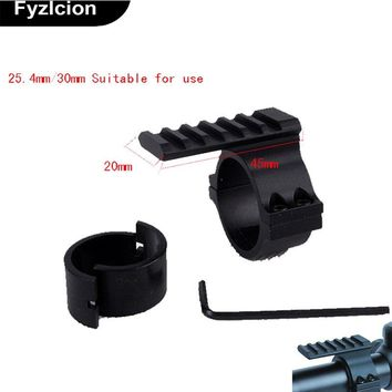 "Scope Barrel Mount 1""/ 25.4mm 30mm Ring Adapter 20mm Weaver Picatinny Rail For Hunting Tactical Scope Laser Flashlight"