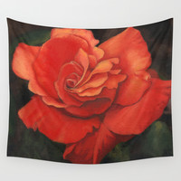 Rose flower Wall Tapestry by Savousepate