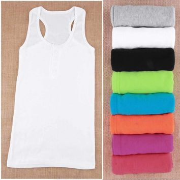 New Hot Ladies Women Girl Mini Sleeveless T-Shirt Tank Tops Cami Bodycon Vest 2016 Fashion