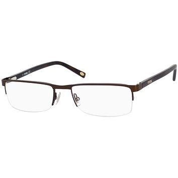 Fossil - Michael 54mm Chocolate  Eyeglasses / Demo  Lenses