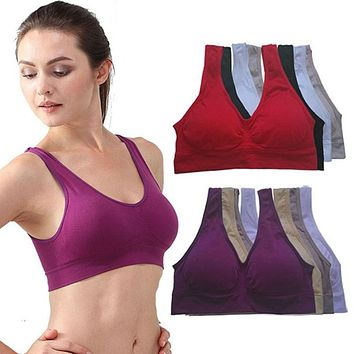 Sport Bra Fitness Yoga Vest Underwear Padded Crop Tops  7 Colors No Wire-rim